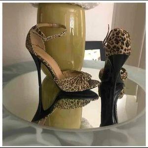 Forever 21 leopard ankles strap heels 9
